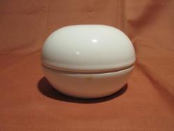 Fehér kerámia bonbonier, ékszertartó