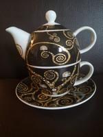 Goebel Gustav Klim  - Der Lebensbaum Tea for one, egyszemélyes teáskészlet kannával és csészével, új