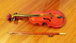 Karácsonyfadísz fa hegedű alakú dísz vintage hangszer 25 cm