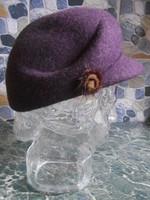 Kalap női gyapjú lila olasz új!
