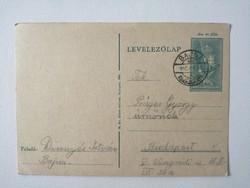 Levelező lap 1940