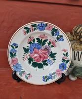 Gyönyörű Kispest  Gránit  Virágos falitányér,   tányér, nosztalgia darab