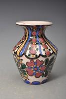 Hódmezővásárhelyi szives majolika váza, HMV  Baán I. 1920-as évek.