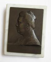 Csillag István: Róna Ilona plakett /1907/ tanító