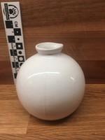 Retro gömbváza, fehér porcelán