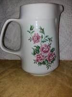 Szépséges rózsaindás 1,25 literes Alföldi vizes kancsó
