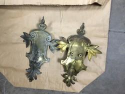 ANTIK sárgaréz lámpadíszek