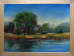 Moona - A folyóparton EREDETI pasztell festmény