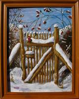 Moona - Friss hó alatt EREDETI OLAJFESTMÉNY