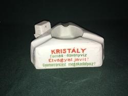 Kristály víz reklám porcelán hamutál