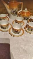 Zsolnay  GÉSA  antik kávés készlet