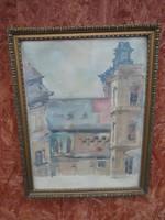 Németh László - Szeged Belváros - Akvarell