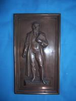 GUTTENBERG bronz dombormű 15x27,5