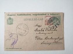 Levelező lap 1918