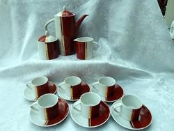 Hollóházi  kávéskészlet