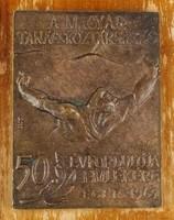 1C898 A Magyar Tanácsköztársaság 50 ÉVFORDULÓJA EMLÉKÉRE EGER 1969 jelzett emlékplakett 1969