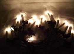 Retro karácsonyi égősor,karácsonyfadísz,izzósor,gyertya alakú fényfüzér