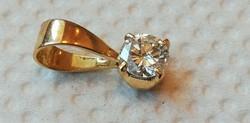Arany medál brillel 0,5 ct 18K 0,77 gramm