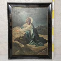 """""""Bartholomeidesz K. 1928"""" Jézus az olajfák hegyén festmény (1394)"""