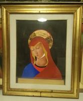 Claudio Fantini : Angyal, Madonna , olaj vászon .