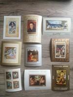 Magyar bélyeg blokkok művészeti témában