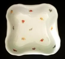 Antik pajzs jelzett Zsolnay porcelán,káposztás,köretes tálaló tál