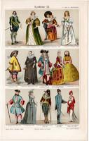 Divat, öltözködés, litográfia 1905 (3), eredeti, német, XVII. - XIX. század, öltözet, viselet, ruha