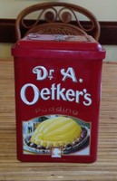 Dr  A. Oetker s pudingos fém tároló doboz
