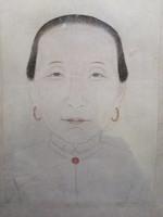 Keleti nő porté - ceruzarajz