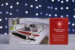 Royalty Line Switzerland kés készlet, 3 darabos, dobozában.