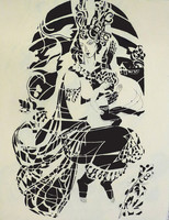 Sütő Éva: Bugaci madonna (tus-ingres papír) 64x42 cm