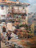 Lierna Altes Haus - Akvarell festmény
