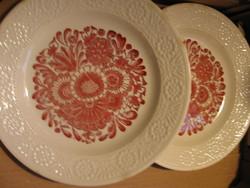 Szélén azonos dombor mintájú Fine Ware angol retró tányér csomag 6 db