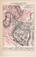 Ókori Róma térkép (ek) 1904, Római birodalom, ókor, történelem, színes nyomat, főváros