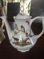 Gyönyörű madárkás kávé vagy tea kiöntő, 1,5-1,8 l-es