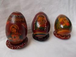 Vallásos tojás fából,kézzel festett szentkép
