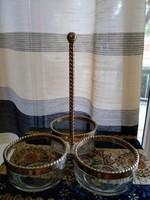 Hármas vastag üveg  kínáló alpakkával kombinálva