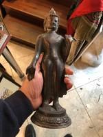 Bronz Buddha szobor, 31 -cm-es nagyságú, többszáz éves.