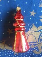 Bordó és arany üveg karácsonyfadísz
