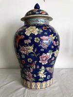 Kínai fedeles porcelánváza