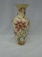 Hatalmas Zsolnay Orchidea mintás hatalmas váza. Exportra készült.