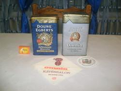 Omnia lemez doboz két darab, reklám szalvéta és pohár alátét