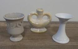 3 db kerámia , váza, kupa , lámpatest dísztárgy, nagyon olcsón