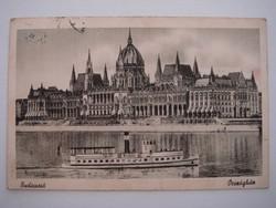 Régi képeslap 1949 Budapest Országház Parlament levelezőlap