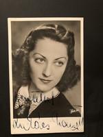 Lukács Margit által aláírt képeslap