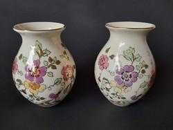 Zsolnay pillangó mintás vázák, 13 cm