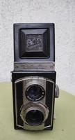 Különleges fényképezőgép,fémhàzas weltaflex Meyer-Optik típusú, objektív mozgatós, különleges gép