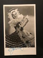 Bordy Bella által aláírt képeslap