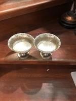 Angol sterling ezüst asztalközép párban, 10 x 12 cm-es.