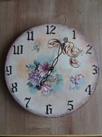 Vintage jellegű kézműves falióra 25 cm-es